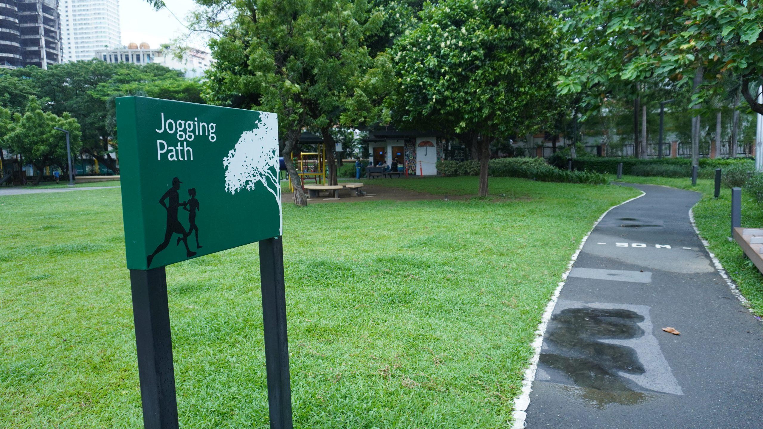 Jogging path Legazpi Park